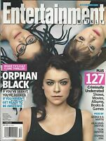 Entertainment Weekly Magazine Orphan Black Tatiana Maslany Fred Armisen Frozen