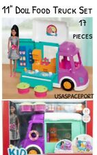 "17-piece FOOD TRUCK Kitchen RV+11.5"" Fashion DOLL SET for Barbie Disney Princess"