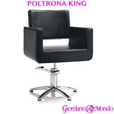 POLTRONA DA SALONE PARRUCCHIERE E BARBIERE SEDIA KING PROFESSIONALE