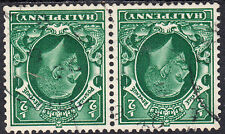 KGV 1934-6 2x ½d Green Photogravure Watermark Inverted SG439Wi N47a Small Format