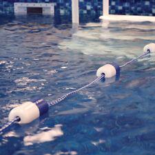 Blue Torrent Swimming Pool Safety Divider Float Rope Line Kit w/ Hooks - 25'