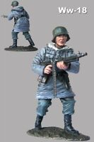 Painted Metal Toy Soldiers 1/32 German Machine Gunner Waffen SS 54mm