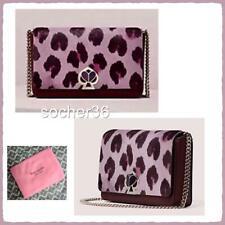 Kate Spade Nicola Haircalf Twistlock Chain Wallet Purple Multi Pwru7494