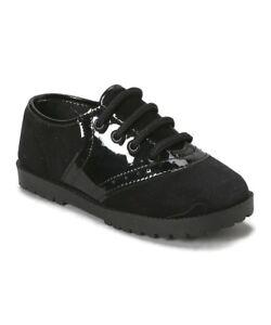 Velvet & Patent Black Saddle shoes Girls or Boys Infant & Toddler Sizes 1 to 10