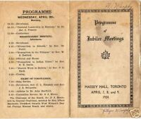 1924 Jubilee Meetings Womens Missionary Program Toronto Canada