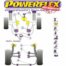 Powerflex Suspension Bush Kit-modèles Essence Pour Vw Golf Mk4 R32 97-06