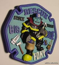 FDNY BRONX HARLEM FIRE DEPT RESCUE CODE 3 PATCH PLAQUE Big Blue Firefighter FD