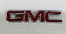 GMC EMBLEM SIERRA YUKON ACADIA REAR LIFTGATE OEM RED/CHROME BADGE sign symbol
