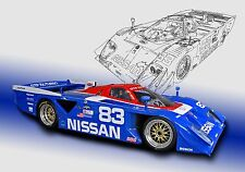 Nissan ZX GTP Turbo  Can-Am Vintage Classic Race Car Photo (CA-0619)