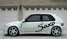 4x saxo side graphics stickers BIG all sizes 90cm