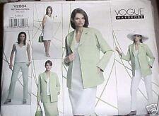 Miss MP Vogue Pattern 2804 Wardrobe Jacket Dress Top Skirt Pant UNCUT Sz 8-10-12