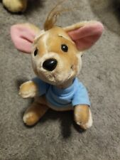 Vintage Disney Parks Plush ROO Kangaroo Winnie Pooh Stuffed Animal Blue Shirt