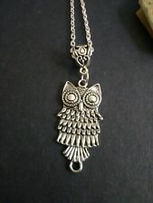 Owl pendant necklace 18 inch chain. Wise good luck  teacher student bird gift