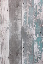 Vlies Tapete Antik Holz rustikal verwittert petrol grau vertäfelung 68616 shabby