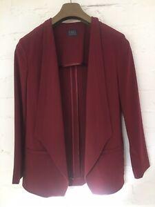 Ladies M&S Claret Waterfall  Blazer/jacket Size 12 Regular Length 28in RRP £35