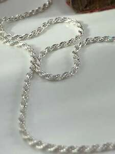 925 Sterling Silver Mens Rope Chain 2mm Unisex Chain 18'' 22'' - Gift Boxed