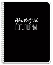 "BookFactory Ghost Grid Dot Journal / Bullet Notebook 120 pages 5.5"" x 8.5"" Wi."