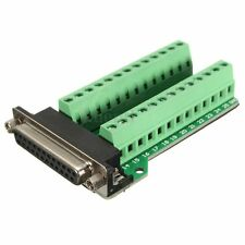DB25 Connector 25 pins Female Adapter RS-232 Port Interface Breakout Board Plus