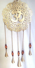 Lovely Ohm colourful garden wind chime hanger Indian bell suncatcher Hindu Pagan