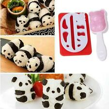 Panda Shape Sushi Rice Ball Mold Onigiri Mould Nori DIY Maker Bento Tool Kit FW