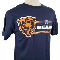 Chicago Bears Football T-Shirt Medium Blue Cotton NFL Majestic Team Apparel NFC