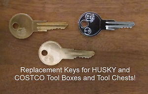 R601 - R620 Key Replacement Husky Toolbox R601-R620 Tool box key Home Depot