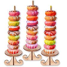 Wooden Donut Display Stand Rack DIY Wall Doughnut Dessert Rack Birthday DecoNIA