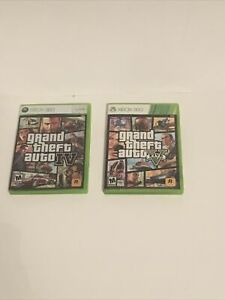 Grand Theft Auto 4 and 5 (GTA IV and GTAV) for Xbox 360 Complete Great Condition