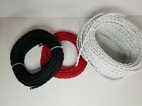 Vintage Style Twisted Cloth Electrical Cord - 3 Colors 2-Wire Projects 4 FT MIN