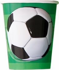SOCCER PAPER CUPS 270ML SOCCER BIRTHDAY PARTY SUPPLIES PACK OF 8