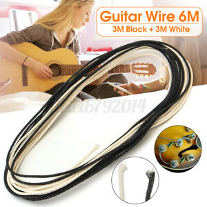 6M 22AWG Cloth Covered Universal Electronics Guitar Wire Wiring Pickups Pots UKS