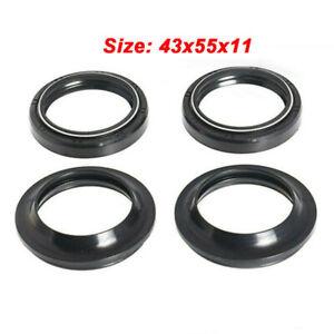 1 Set Dust Oil Seals For Kawasaki Ninja 1000 1000R 250 250R 650 650R 750R 900R