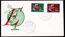 Island 354-55 FDC-Globus, CEPT 1961