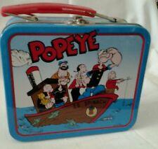 "1997 Vtg  Lunch Box  ""Popeye & Pals"" Popeye, Olive Oyl, Sweet Pea, Wimpy ,Brutus"