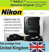 Genuina Original Nikon Mh-53 charger,en-el1, Coolpix 5000 5400 5700 8700 4800