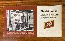 Vintage Original 1950's Schlitz Brewery Tour Booklet Milwaukee Wisc. Beer