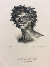 Australie Presqu'île Péron  Maurin  litho 1839 Australia aborigène