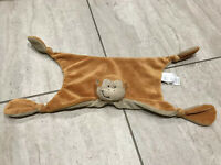 Jojo Maman Bebe Monkey Comforter Blankie Soft Toy Tan blanket dou soother plush