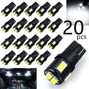 JDM ASTAR 20x 194 T10 White LED Parking Map Door Cargo 3rd High Brake Light Bulb