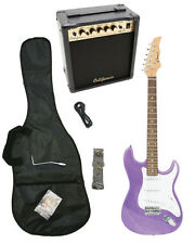 PURPLE Electric Guitar+15w AMP+Strap+Cord+Gigbag NEW