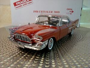 DANBURY MINT 1958 CHRYSLER 300D..1:24..NEW IN BOX..RARE COUPE..UNDISPLAYED..MINT