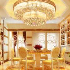 60cm K9 Crystal Ceiling Fixtures Flush Mount LED Chandeliers Home Lighting Decor