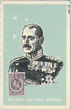 57184 -  DENMARK - POSTAL HISTORY: MAXIMUM CARD 1948 - ROYALTY