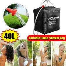 40L Camping Shower Portable Solar Water Heater Bath Heating Pump Bag Outdoor