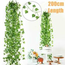 12pcs Artificial Ivy Leaf Garland Plants Fake Vine Foliage Flowers Home Decor