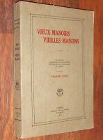 VIEUX MANOIRS, VIEILLES MAISONS du QUEBEC 1927 Canada très illustré