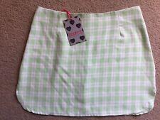 BNWT Boohoo Ladies Light Green & White Check  Skirt Size 10
