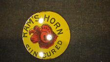 Vintage 1900's tobacco tin tag Rams Horn Tobacco