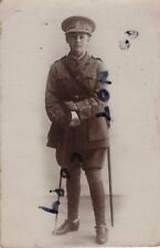 WW1 Boy dressed in father's uniform believed to be KRRC Kings Royal Rifle Corps