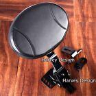 Adjustable Plug-In Driver Rider Backrest Kit For Harley Touring FLTR FLHT 97-18